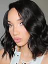 Perruques avant en dentelle synthetique couleur noire perruque de cheveux en fibre naturelle resistant a la chaleur pour femme noire