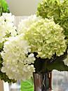 1 Gren Silke Hortensior Konstgjorda blommor