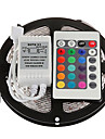 Z®zdm impermeable a l\'eau 5m 150x5050 smd rgb led strip light avec telecommande 24 touches (dc12v)
