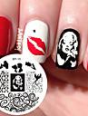 Marilyn monroe mönster nail art stämpel mall bildskylt född söt nagelstämpling plåtar bp15 nagel konst dekoration