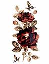 Tatouages Autocollants Series de fleur Motif Bas du Dos ImpermeableHomme Femme Adolescent Tatouage Temporaire Tatouages temporaires