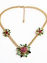 Pentru femei Coliere cu Pandativ Flower Shape Cute Stil Rosu Bijuterii Pentru Halloween Cadouri de Crăciun 1 buc