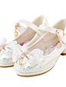 Fete pantofi de nunta Vară Toamnă Noutăți Pantofi de flori Fata Confortabili Imitație de Piele Luciu Nuntă Rochie Casual Party & SearăToc