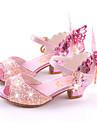 Fete Sandale Vară Toamnă Confortabili Noutăți Pantofi de flori Fata Microfibre Nuntă Rochie Casual Party & Seară Toc Plat Toc Stiletto
