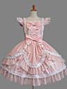 O piesă/Rochii Lolita dulce Clasic/Traditional Lolita Elegant Prințesă Cosplay Rochii Lolita Modă Culori solide Beretă Manșon scurtScurt