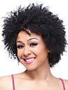 Femme Perruque Synthetique Sans bonnet Court Frises Noir Perruque Naturelle Perruque Deguisement
