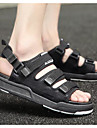 Bărbați Sandale Confortabili PU Tul Primăvară Casual Negru Gri Rosu Roșu-negru Plat