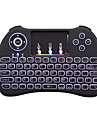 H9 fără fir colorat luminozitate luminozitate luminozitate 2.4GHz touchpad airmouse mini tastatură