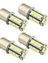 4pcs 1156 / ba15s / 1157 3w lampe de voiture a LED 18 smd 5050 feu arriere / frein / tour / arret lumiere dc 12v blanc / blanc chaud