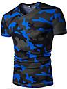 Bărbați Gât V Tricou Casul/Zilnic Simplu(ă) Activ,Imprimeu Culoare Camuflaj Manșon scurt Vară-Subțire Bumbac