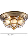 Montage du flux ,  Tiffany Bronze Huile Fonctionnalite for Antireflet Protection des Yeux Metal Interieur Couloir 3 Ampoules