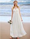 LAN TING BRIDE A-linje Bröllopsklänning - Klassisk & Tidlös Vacker i svart Ankellång Prydd med juveler Chiffong medApplikationsbroderi