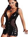 Costume Cosplay Mai multe costume Festival/Sărbătoare Costume de Halloween Negru Zentai Carnaval / An Nou Feminin Piele lăcuită