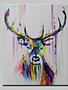 Pictat manual Abstract Animal Pop Vertical,Modern Un Panou Hang-pictate pictură în ulei For Pagina de decorare
