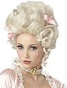 Perruque Synthetique Sans bonnet Mi Longue Frises Blanc Perruque de Cosplay Perruque Deguisement
