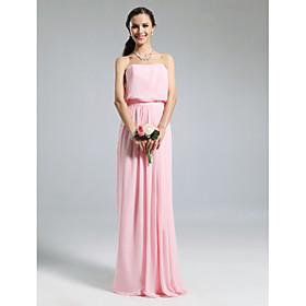 Платье вечернее/для выпускного из шифона, длиной до пола, силуэт колонна