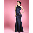 Lanting Trumpet/Mermaid Plus Sizes / Petite Mother of the Bride Dress - Dark Navy Floor-length Sleeveless Satin