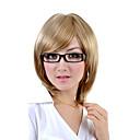 nadolijevanja srednje duljine sintetička svjetlo plava ravna kosa perika