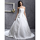 Lanting Bride A-line / Princess Plus Sizes / Petite Wedding Dress-Chapel Train