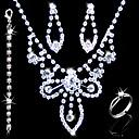 nádherná slitina s kamínky svatební svatební šperky sada