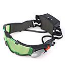 brýle pro noční vidění s LED svítidly zeleně tónované čočky s leptaným grafiky