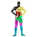 Zentai kombinézy Ninja Zentai Cosplay kostýmy Červená / Zlatá / Černá / Zelená / Azurová / Fuchsiová Patchwork / TiskLeotard/Kostýmový