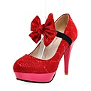 Sequined Stiletto Pumps With Removable Bow (More Colors)