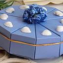 10 Kusů v sadě Favor Holder-Pyramida Lepenkový papír Krabice na výslužky
