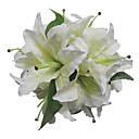 """Svatební kytice Kulatý Růže Kytice Svatba Satén Bílá 28 cm (cca 11,02"""")"""