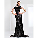 Formal Evening / Military Ball / Black Tie Gala Dress - Sparkle & Shine / Elegant Plus Size / Petite Trumpet / Mermaid BateauSweep /