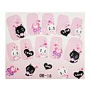 koreaanse tekenfilmserie 3d nagel stickers