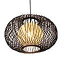 60w comtemporary legno Lampadario design rotondo