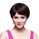capless breve rettilineo parrucca 100% capello umano