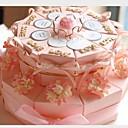 pink kartica papira vjenčanje milost kutije s vrpcama i cvijećem (set od 20)