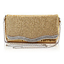 Elegant Satin with Rhinestone Evening Handbag/Clutches(More Colors)