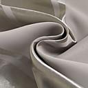 高貴な灰色の固体ストライプ遮光カーテン(2パネル)