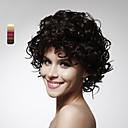 使用可能なキャップレスショート高品質な合成巻き毛のかつら、複数の色