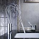 Koupelnové baterie Sprinkle®  ,  Moderní  with  Pochromovaný Jeden kohoutek S jedním otvorem  ,  vlastnost  for Baterie na střed