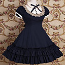 kratkih rukava koljeno duljine haljinu pamuk škola lolita