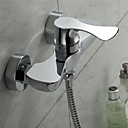 Sprinkle® Tuš slavine  ,  Suvremena  with  Krom Single Handle Two Holes  ,  svojstvo  for Centerset / Wall Mount