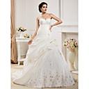 Lanting Bride® Krinolina Sitna / Veći brojevi Vjenčanica - Klasično i svevremensko / Elegantno i luksuzno Jesen 2013 Srednji šlepSrcoliki