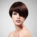 capless 100% umano parrucca capelli corti capelli lisci