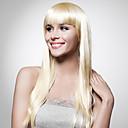 nadolijevanja extra dugo najviše ocjene kvalitete sintetička plava ravna kosa perika