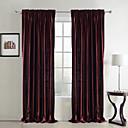 Dvije zavjese Neoclassical Jednobojni Srebrna Bedroom Polyester Panel zavjese Zavjese