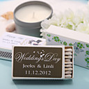 Wedding Décor Personalized Matchboxes - Hearts Prints (Set of 12)