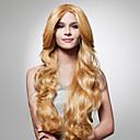 nadolijevanja dugo svijetlo zlatno smeđe kovrčave kose perika