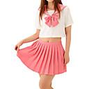 セクシーな女の子のピンクのキャンディポリエステル制服(2個入)