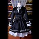 Inspirovaný Vocaloid Hatsune Miku Video Hra Cosplay kostýmy Cosplay šaty / Šaty Retro Czarny Dlouhé rukávy Smoking / Halenka / K šatům
