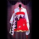 Inspirirana Vocaloid Hatsune Miku Video igra Cosplay nošnje Cosplay Suits / Kimono Kolaž Crvena Dugi rukav Haljina / Pojas