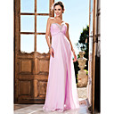 Prom / Formal Evening / Military Ball Dress - Plus Size / Petite Sheath/Column Strapless / Sweetheart Floor-length Chiffon